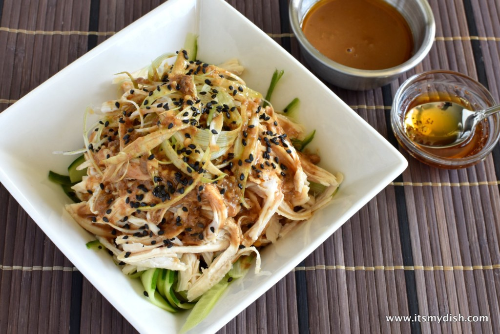 Sichuan Chicken Salad With Spicy Sesame Dressing 棒棒雞 It S My Dish
