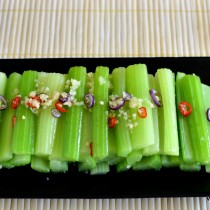 Sichuan celery salad - plated