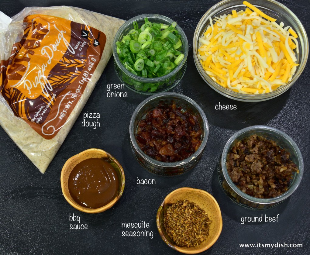 cheeseburger pizza - ingredients
