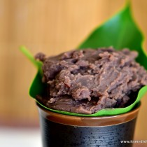 red bean paste - closeup