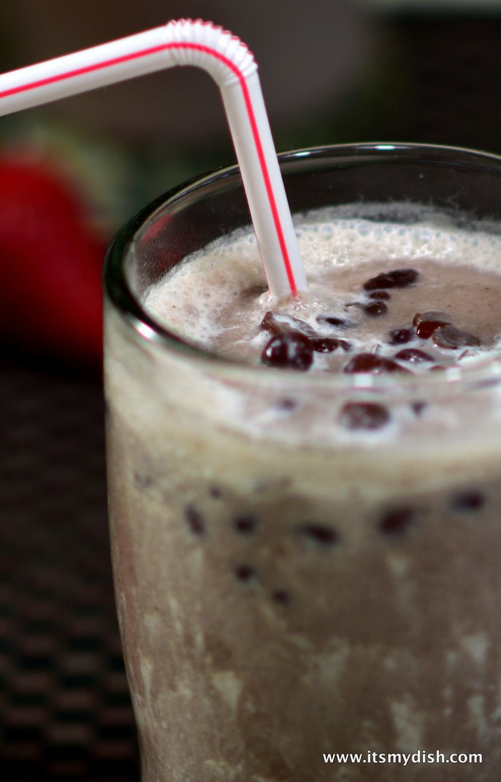 red bean slush - closeup