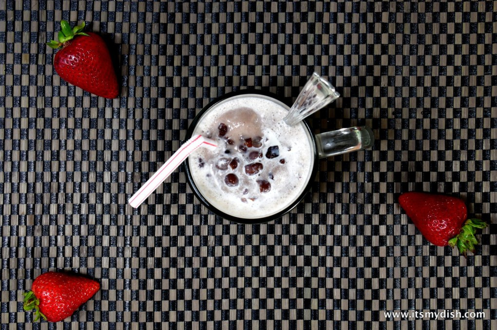 red bean slush - top