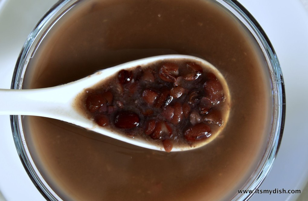 red bean soup - closeup1