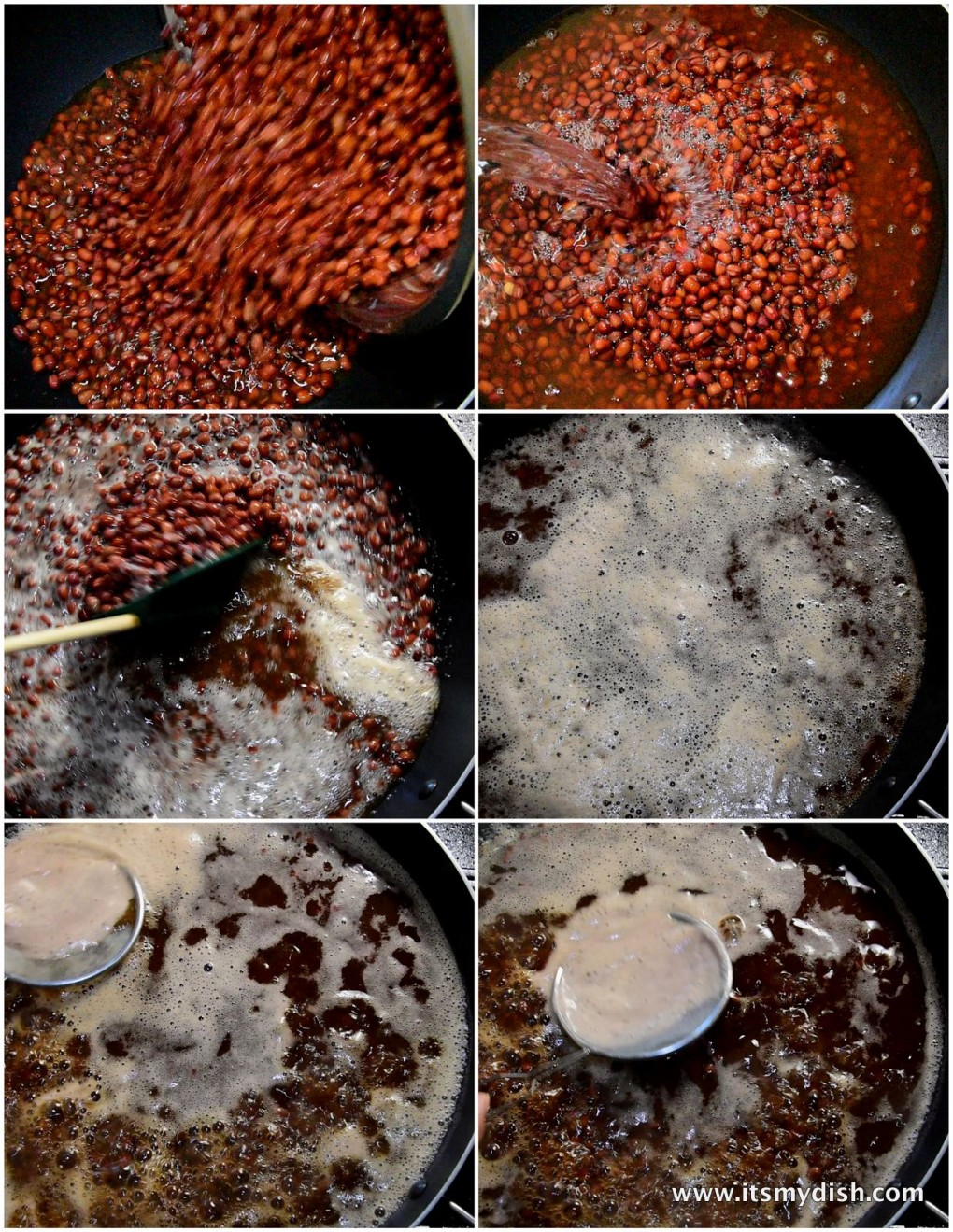 red bean soup - process